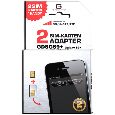 Dual SIM Adapter Samsung Galaxy S9 plus