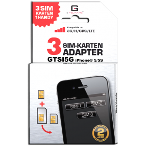 Triple SIM Adapter iPhone® GTSI5G